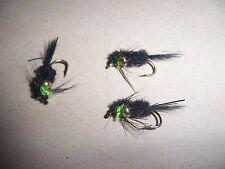 GOLDEN Pepita Montana Lime Verde Torace + FLASH BLU taglia 12 da salmoflies