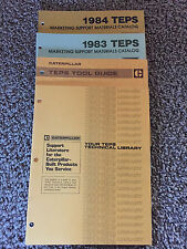 Caterpillar 1983, 1984 TEPS Marketing Support Materials Catalog,Tool Guide,More