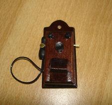 nostalgisches Wandtelefon ca. 4,8 cm h  Puppenstube 1:12