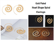 Shape Earing For Women Swirl Hoop Ethnic Heart