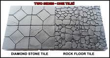 "DIAMOND STONE - ROCK FLOOR DUNGEON TILES 2""x2"" DOUBLE-SIDE Dwarven Forge"