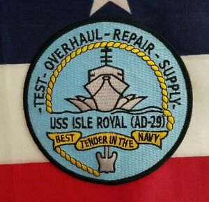 USS Isle Royal AD 29 Destroyer Tender USN Military Navy Patch