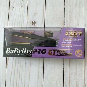 New BaByliss Pro GT Gold Titanium 5/8 Plate Size Mini Crimping Iron BABGT3152