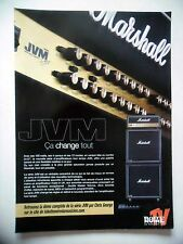 PUBLICITE-ADVERTISING :  Amplis MARSHALL JVM  07-08/2007