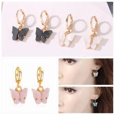 Acrylic Women Earrings Ear Hoop Party Fashion Dangle Jewelry Butterfly Drop