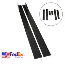 6PCS/Set Matte 2M Car Side Skirts Splitter Extension Panel Under Body Lip PP USA