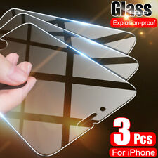 3-PACK Screen Protector Tempered Glass For iPhone 5 6 7 8 Plus Xs Max XR 11 Pro