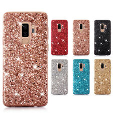 Luxury Slim Glitter Bling Rubber Hard Case Cover For Samsung Galaxy A40 S9 S10