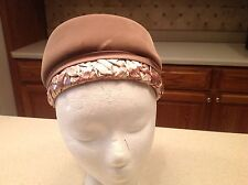 Vintage Ladies Hat Betmar Brown Velour Grosgrain Ribbon Bow Woven Very Clean
