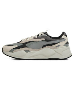 PUMA RS-X3 PUZZLE - Limestone Gray White - 371570-01 / 37157001 Sneakers Shoes