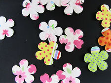 60 Fancy Summer Blossom Floral Cotton Flower Applique/daisy/trim/bow/padded H477