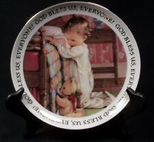 Collectible Christmas Blessing Decorative Plate, Kathy Lawrence, Child Praying