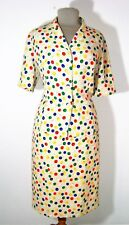 Tailleur Jupe Devernois Polyester Beige Motifs Ballons Multicolores Taille 44
