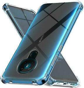 For Nokia 1.3 5.3 2.3 8.3.4 5.4 Case Clear Shockproof Phone Cover + Screen Guard