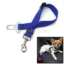 Negro Cinturón de Seguridad Coche Ajustable Correa Arnés para Mascotas Gatos