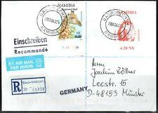 Namibia Cover - Bachbrecht 4 - 02.04.2008 Löwen Umschlag als Einschreiben