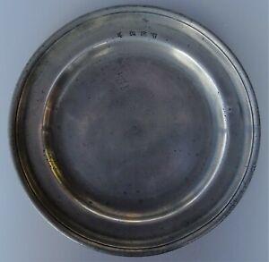 flandre - rare plat en étain de bailleul
