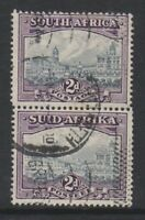 South Africa - 1941, 2d Grey & Dull Purple - Vertical Pair - G/U - SG 58a