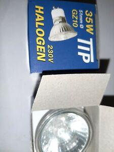 10 x  TIP  Kaltspiegellampe 230 V 35 W   Halogen GZ10  51 mm