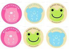 Nakajima Corporation Pickles the Frog, Zou Coron, Buta Coron 6Pc Round Sticker