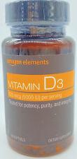 Amazon Elements - Vitamin D3, 5000 IU, 180 Softgels
