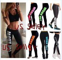 Women's Legging Capri Yoga Gym Running Fitness Trouser Sports Pants