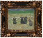 Gauguin Women Bathing 1885 Wood Framed Canvas Print Repro 8x10