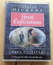 AUDIO BOOK: Charles Dickens GREAT EXPECTATIONS on 2 x cass read by Paul Scofield