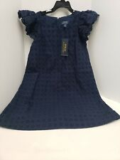 POLO Ralph Lauren Girl's Cotton Navy Spring Dress Size 8