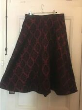 Knee-Length Cotton Blend A-Line Hand-wash Only Skirts for Women