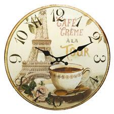 Crema grande redonda pedazo de tiempo de Reloj De Colección Estilo Francés