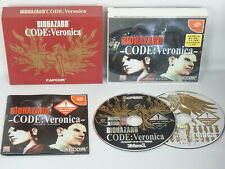 BIOHAZARD Resident Evil CODE VERONICA Box Ref/ccc Dreamcast SEGA dc