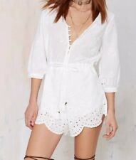 Nasty Gal Casablanca playsuit white women's Size medium