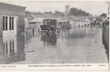 More details for floods at little bray, wicklow 1905 ireland postcard b774
