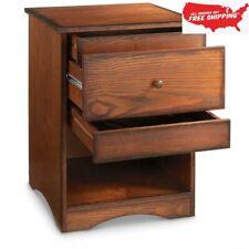 Gun Concealment End Table Storage Organizer Furniture Safe Dark Wood Drawer Home