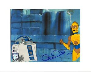 "ANTHONY DANIELS Signed Star Wars ""DROIDS"" Cartoon Animation Cel BAS #Z53858"