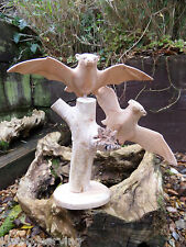 More details for fair trade indonesian hand carved made wooden animal mammal bat parasite statue