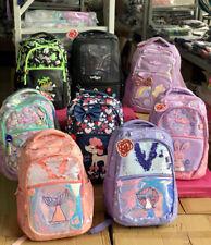 NEW Girls SMIGGLE Backpack School Bag Rucksack Fluffy Fave rabbit Glitz Gold