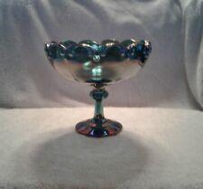 Vintage Fruit Compote Bowl Big Pedestal, Blue Or Gold Color, Pick 1 For $23.00