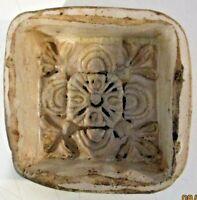 FORMELLA COTOGNATA originale ceramica CALTAGIRONE XVIII secolo Cm. 11 ALLEGORIA
