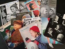 16 VINTAGE KNITTING PATTERNS for CHILDREN'S HATS & CAPS