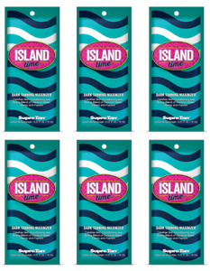 6 Packets Supre Tan Island Time Dark Tanning Maximizer Lotion