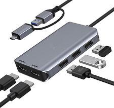 USB to Dual Monitor Adapter,Universal HDMI Splitter Extend Display, USB 3.0 Dock