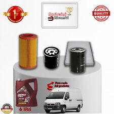 KIT TAGLIANDO FILTRI + OLIO FIAT DUCATO II 2.0 JTD 62KW 84CV DAL 2003 -> 2006