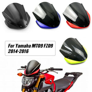 Windscreen Windshield w/ Upper Front Fairing Cover for Yamaha FZ MT 09 2014-2016