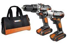 Worx WX921 20V Combo Kit Cordless 290 Impact Driver & 372 Drill Li-ion 1.5Ah New