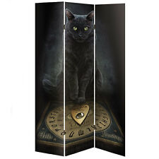 LISA PARKER Gato Negro His Masters VOZ Lona Habitación Divisor 3 plegable grande