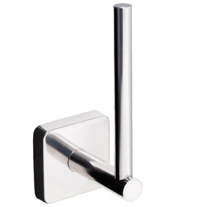 Wall Mounted Toilet Roll Holder Stainless Steel Self Adhesive Spare Paper Square