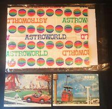 RARE 1960s~Houston, TX~ASTROWORLD~Amusement Park~vtg~GIFT SHOP BAG + POSTCARDS!!