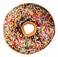 3D Chocolate Icing Sugar Donut Cushion Pillow Toy Seat Pad Vacuum Packed